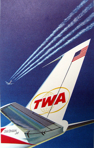 Circa 1962 TWA promotional poster