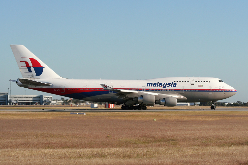 9M-MPN Malaysian Airlines Boeing 747-400