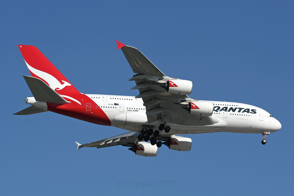 VH-OQA Qantas Airbus A380-842