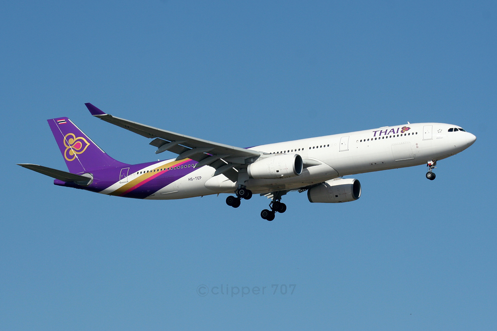 HS-TEP Thai Airways Airbus A330-300 4196