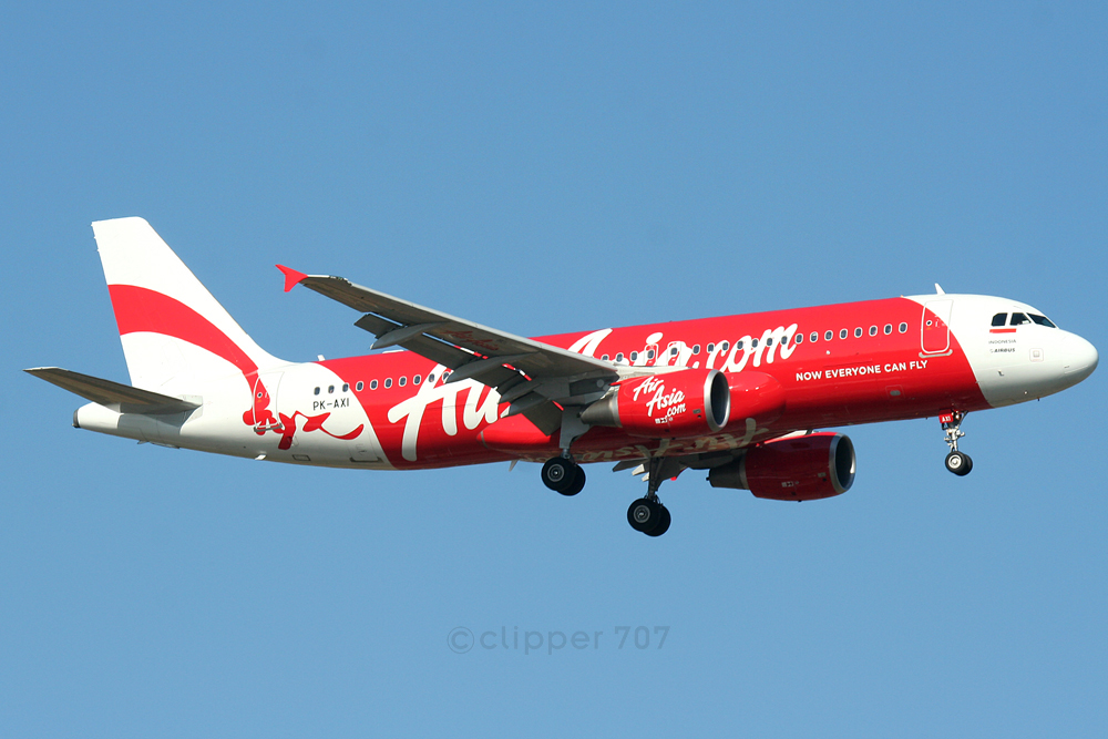 PK-AXI Air Asia Indonesia Aibus A320-216  4206
