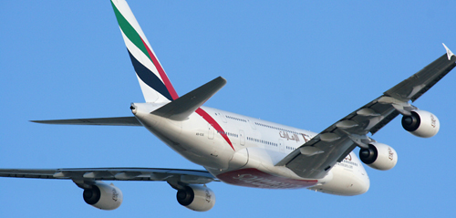 A6-EDE Emirates Airbus A380-861. Emirates uses the Engine Alliance GP7200 on its A380's