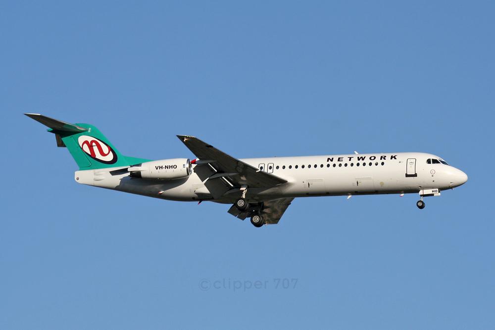 VH-NHO Network Aviation Fokker 100 5556
