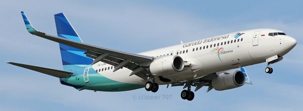PK-GMQ Garuda Indonesia Boeing 737-8U3 5423