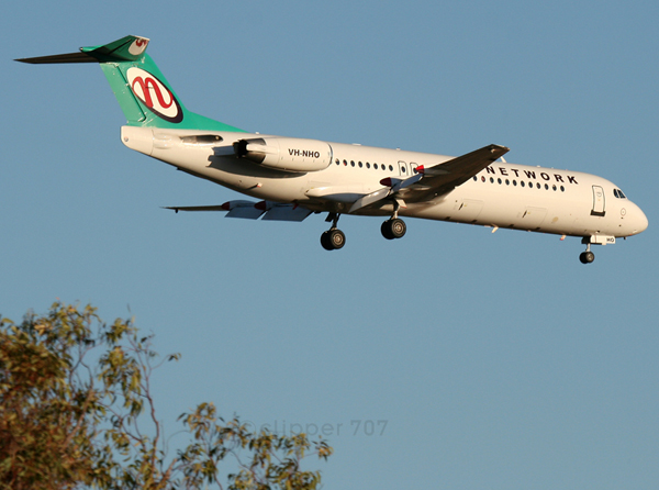 VH-NHO Network Aviation Fokker F-100 6411A